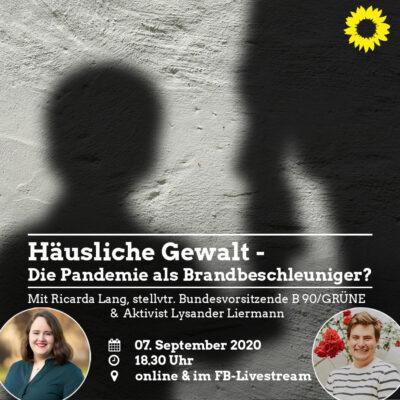 Fachgespräch zu häuslicher Gewalt mit Lysander Liermann und Ricarda Lang