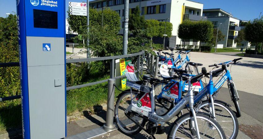 Fahrradleihstation von RegioRad