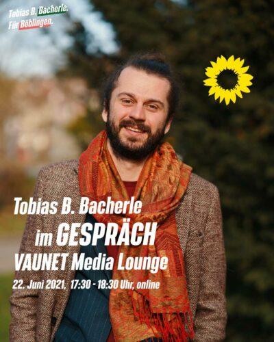 Tobias B. Bacherle ist bei der VAUNET Media Lounge zu Gast